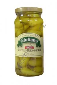 Giuliano's Hot Chilli Peppers Large Jar 473ml