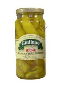 Giuliano's Hot Banana Wax Peppers 453 ml